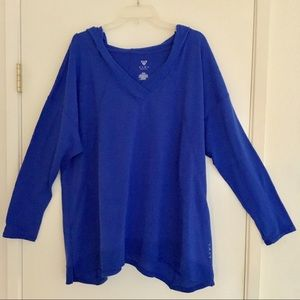 Livi Active Lane Bryant royal V-neck hoodie 22/24